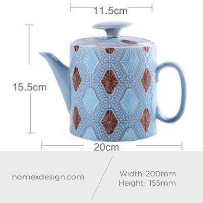 Ceramic M -size tea pot (1 piece)