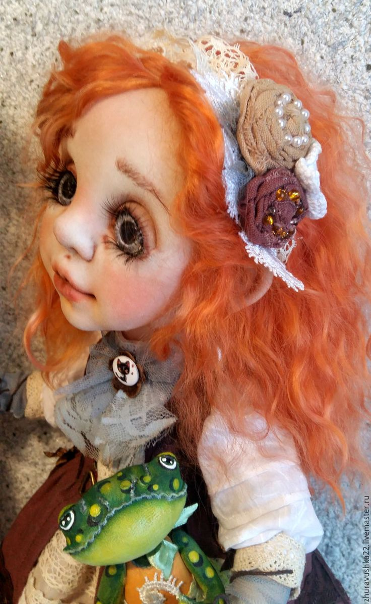 Купить Кукла интерьерная текстильная. Рыжая малышка. Резерв. - коричневый, бежевый, кукла ручной работы