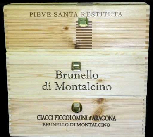 3 Single bottle magnum wine crates with latches from Italy