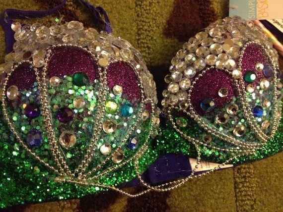 mermaid green jeweled bra DD - Google Search
