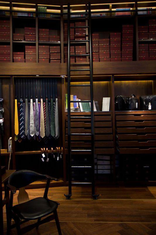 ♂ Masculine & Elegance a nice closet for a gentleman chocolate brown