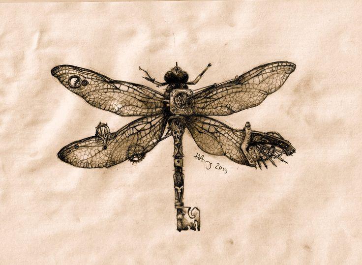 Steampunk Dragonfly Key By Agentcoleslaw Deviantart Com On