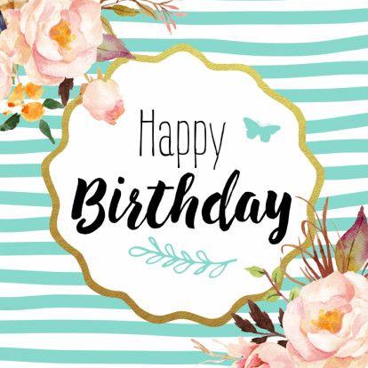 Trendy verjaardagskaart met getekende bloemen. Design: 99treats Te vinden op: www.kaartje2go.nl