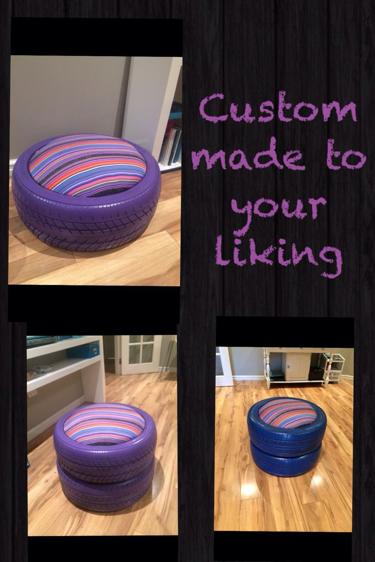 Originally named the Tyre Stool but can be used for multiply purposes!! Table or storage container even a kids Gaming chair. Available for purchase, choose from a wide range of colours and patterns I have on hand. Available within 7-10 days of placing custom order. Sales available thru Ohana Upcycle located in Kelmscott Perth.