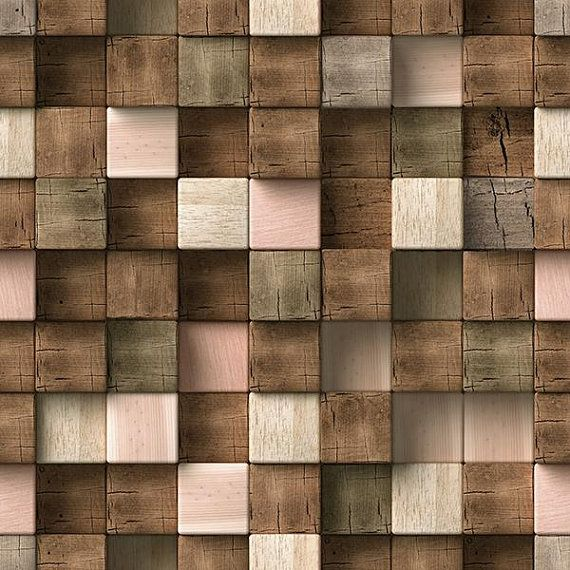 3d pattern, wood texture, square seamless. Picture for ...