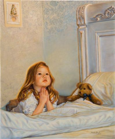 Now I lay me down to sleep, I pray the Lord my soul to keep, if I shold die before I wake, I pray the Lord my soul to take.