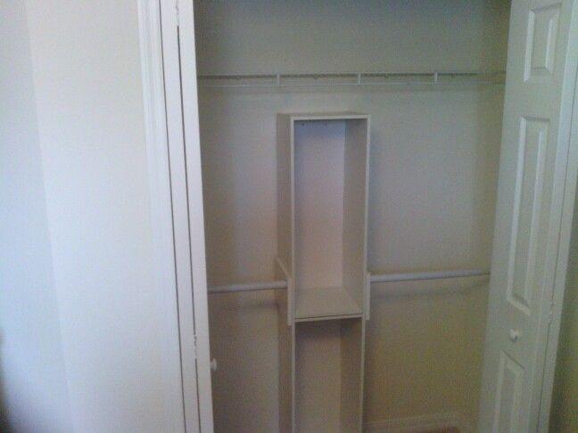 Kid's closet. Added left rod/dowel