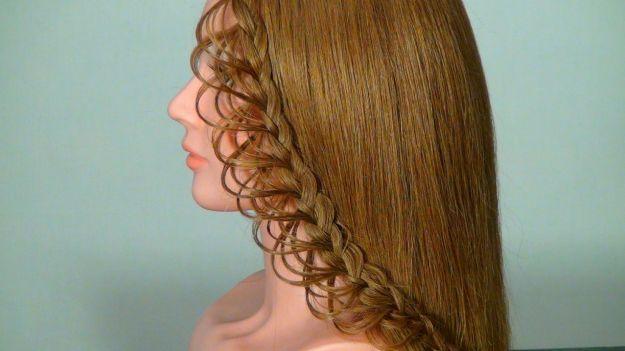 Прическа с плетением - ажурная коса ::: onelady.ru ::: #hair #hairs #hairstyle #hairstyles
