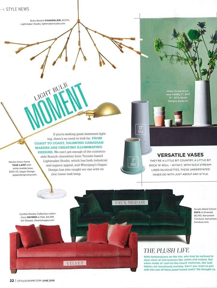 Barrymore Furniture Carson Sofa in luscious deep green mohair. From Style at Home. This page speaks Autumn.