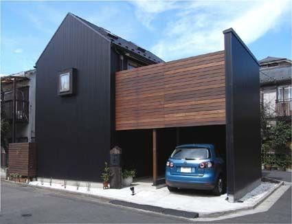 設計工房/Arch-Planning Atelier/切妻屋根が特徴の倉をイメージした狭小住宅