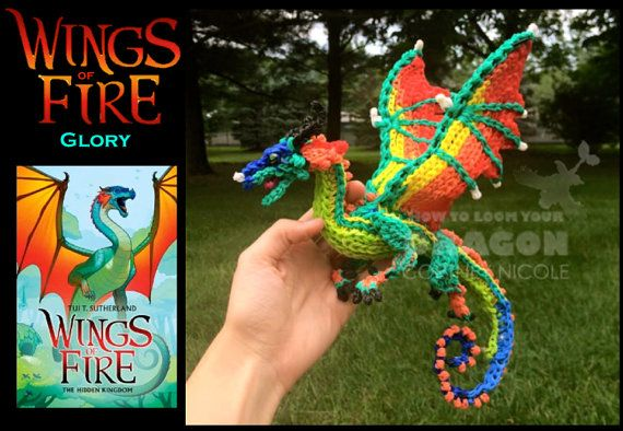 Rainbow Loom Glory from Wings of Fire by HowtoLoomYourDragon