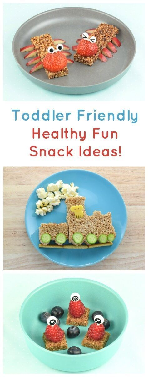 Fun snack ideas for toddlers - these cute food art ideas are all super quick easy and healthy - Eats Amazing UK