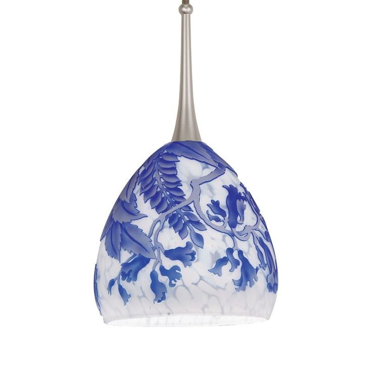WAC Lighting HM-536 Asian 1 Light Down Lighting Flexrail2 Track Pendant from the Blue / Platinum Indoor Lighting Track Lighting Pendants