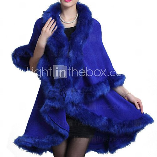 Women Fox Fur Shawl & Wrap , Without Lining 2016 - $36.09