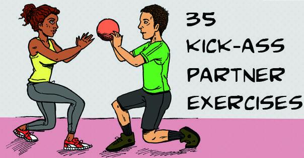 35 kick-ass partner workout exercises...: Kicks Ass Partners, 35 Kicks Ass, Work Outs, Partner Exercises, Partners Workout, 35 Partners, Partners Exercises, Health, Medicine Ball Workout