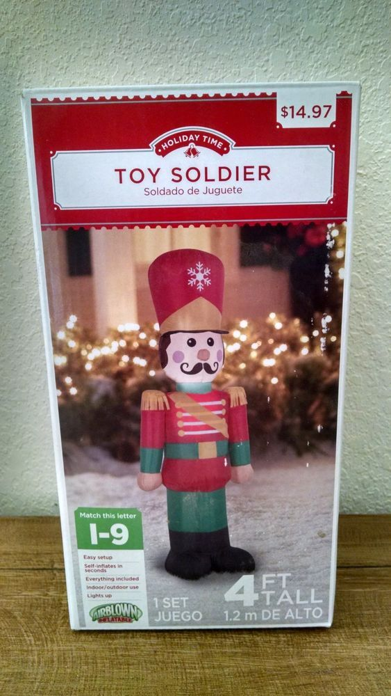 Details about Toy Soldier Christmas Inflatable 4 ft Gemmy Holiday