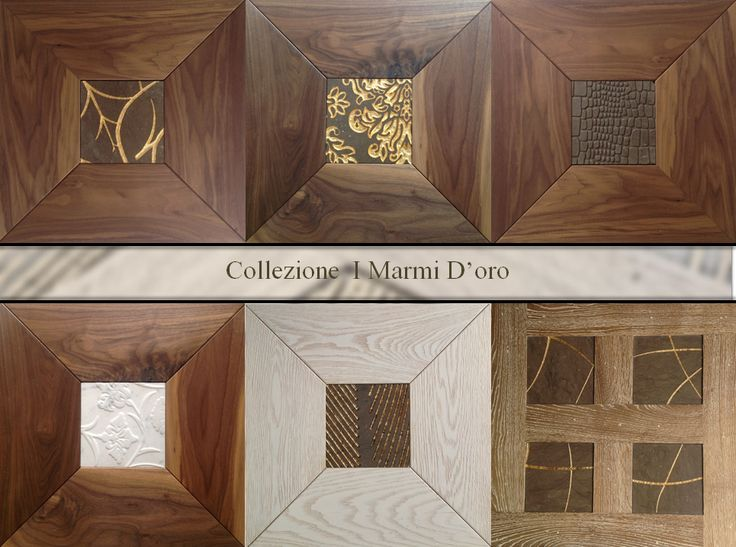"""i castelli special limited edition (out of range) """"Collection I marmi d'Oro"""" #precious #inserts #wood #gold #marble #interior #design #flooring #madeinitaly"""