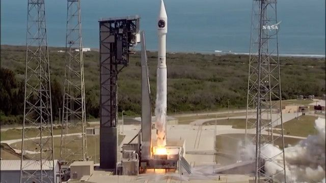 A little while ago Orbital ATK's Cygnus spacecraft blasted off atop an Atlas V rocket from Cape Canaveral. After about 21 minutes it successfully separated from the rocket's last stage went en route to its destination. This is its seventh official mission, called Orbital-7 or simply Orb-7 but also CRS OA-7, to transport supplies to the International Space Station for NASA. Read the details in the article!