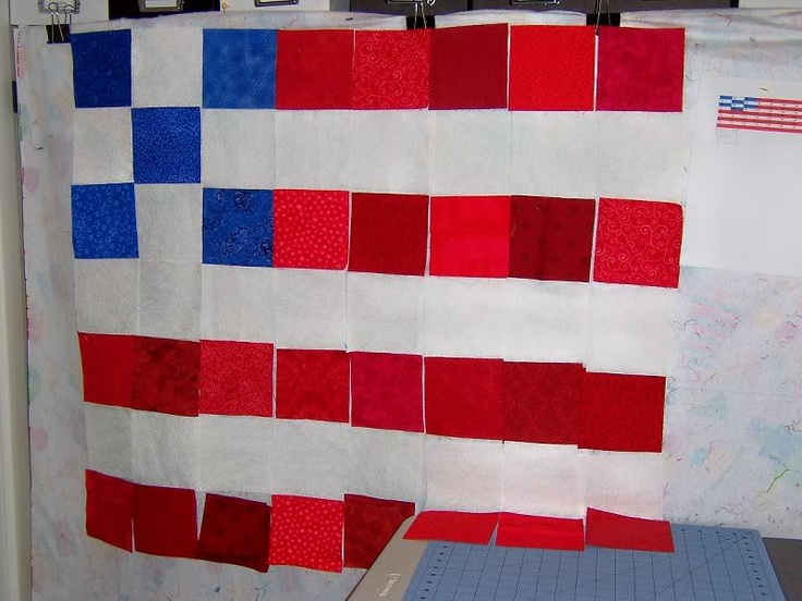 American Flag Twister Quilt - PHOTO ONLY here - doesn't link to anything