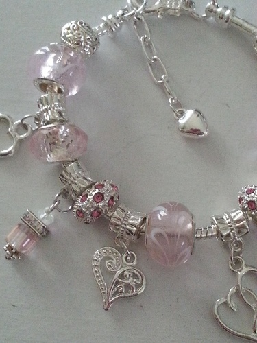 "'""Pretty In Pink"" Silver Plated With Murano Beads' is going up for auction at…"