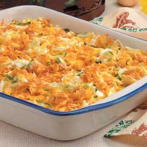 Cheddar Cabbage Casserole recommend partially cooking cabbage and draining well before using it in the casserole