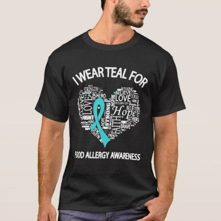 Food Allergy Awareness T-Shirt - tap, personalize, buy right now!