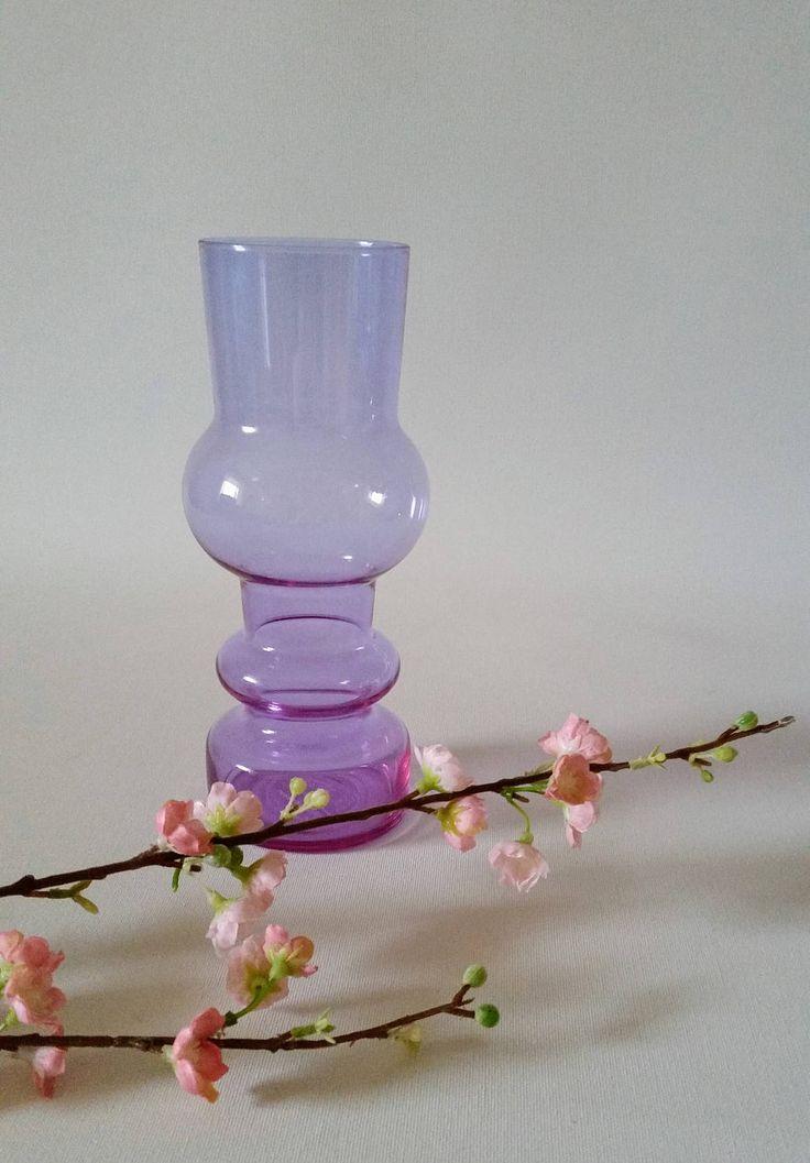 Kaj Franck 'Kevät' Spring vase Nuutajarvi Notsjo glass 1950s by NordicFiesta on Etsy