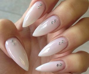 Almond Nails with Diamonds