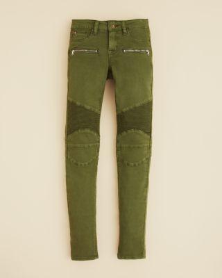 Hudson Girls' London Calling Twill Moto Pants - Sizes 2-6X | Bloomingdale's