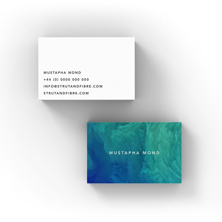 Mond – one of our Image business card templates available to customise and order on our site.