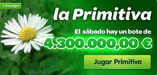 La Primitiva es la lotería semanal más popular. Hoy tiene un bote de 4.300.000,00 €  https://www.lotojuegos.com/primitiva/boleto-primitiva.asp?md=lp=lpj