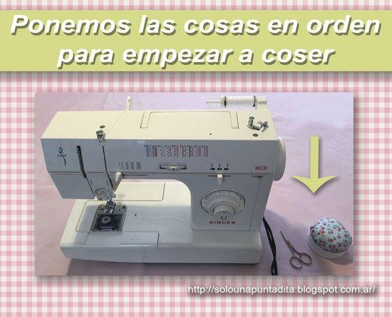 Cómo conviene organizar la mesa de trabajo para coser a máquina.