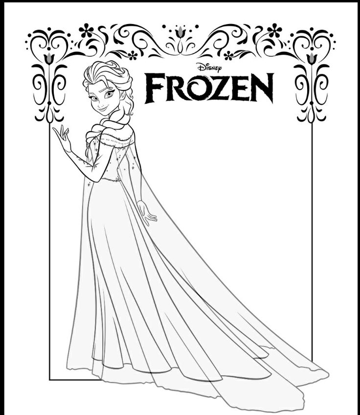 38 Best Frozen Coloring Pages Images On Pinterest