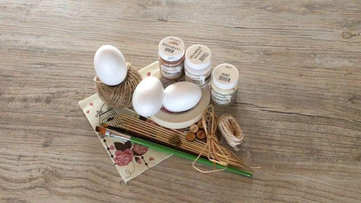 kosarbolt.hu ~ Húsvéti tojás díszítés romantikus stílusban. ~ Decoupage,...