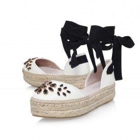 KATHY White Flatform Sandals by Carvela Kurt Geiger | Kurt Geiger