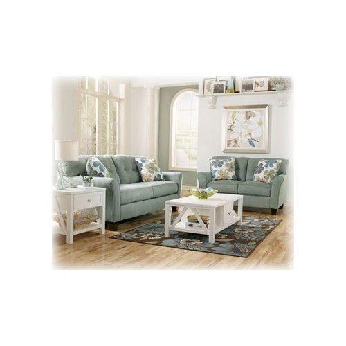 My Living Room Furnature Ashley Furniture Signature Design Kylee Lagoon Loveseat