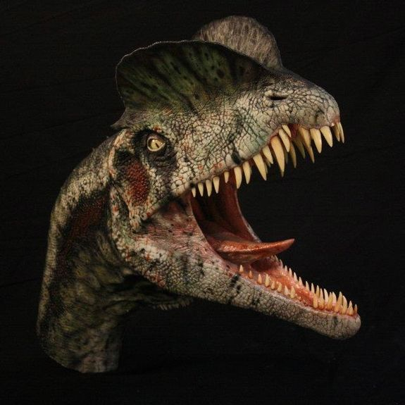 Dilophosaurus by Andrea Leanza and T-Rex vs. Samurai by RJ....   Stan Winston School of Character Arts