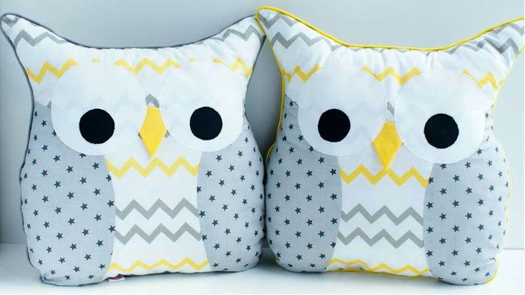 Handnade owl pillow. Poduszka sowa #pillow #decration #kidsroom #owl #pokójdziecka #poduszkasowa #poduszka #dekoracja #sowa