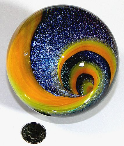 Lampwork Vortex Marble Paperweight by jwinterbowerglassart, via Flickr: