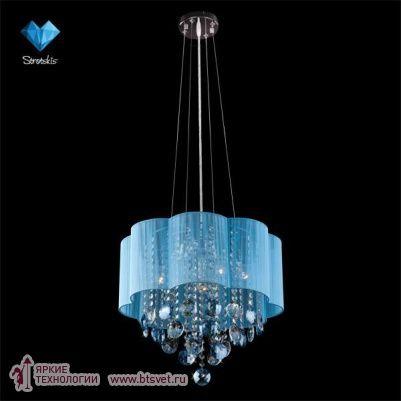 Потолочный светильник Eurosvet 3155/5 хром/розовый хрусталь - купить люстры в интернет-магазине в Москве