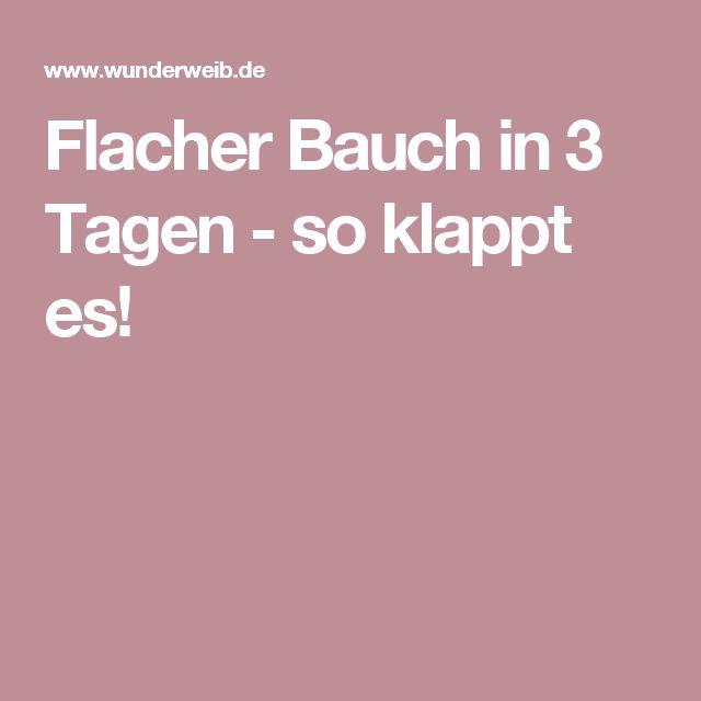 Flacher Bauch in 3 Tagen - so klappt es!