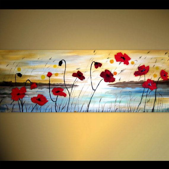 12 best Poppies images on Pinterest | Poppies, Canvas paintings and ...