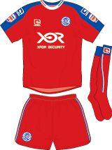 Aldershot Town FC Football Kits 2010-2011 Home Kit