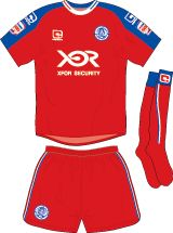 Aldershot Town FC Football Kits 2010-2011 Home Kit