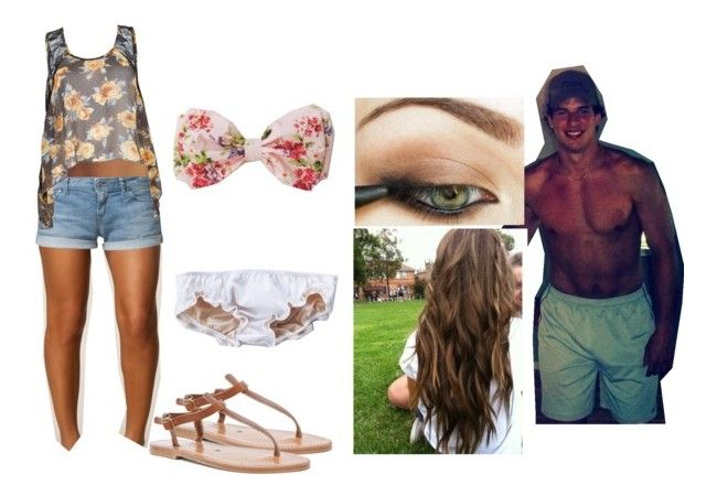 """""""C&D's daughter seen locking lips and holding hands on the beach with Sidney"""" by mrsprinceharry ❤ liked on Polyvore featuring Oneness, Roxy and K. Jacques"""