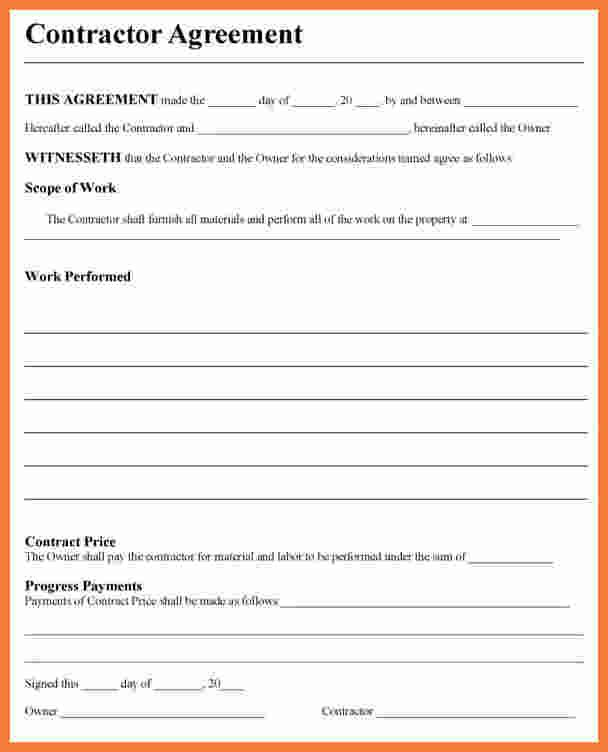 Free Contractor Agreement Template Check More At Https Nationalgriefawarenessday Com 33920 Free C Contractor Contract Construction Contract Contract Template