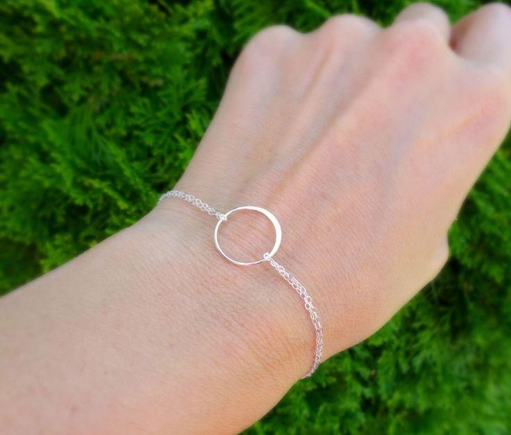 Karma bracelet, silver eternity bracelet, friendship bracelet, minimal delicate silver bracelet, circle bracelet, eternity circle, otis b by OtisBJewelryGifts on Etsy https://www.etsy.com/listing/91109341/karma-bracelet-silver-eternity-bracelet