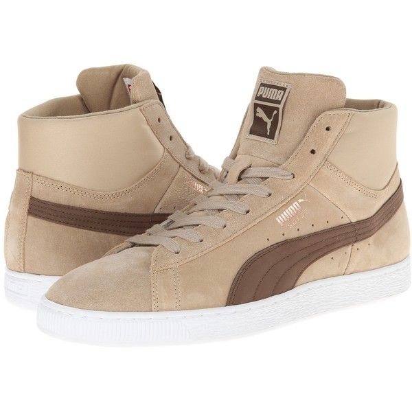 a0685c653677d2 PUMA Suede Mid Classic Nat Calm 2 (Cornstalk Carafe) Men s Classic... ( 50)  ❤ liked on Polyvore featuring men s fashion
