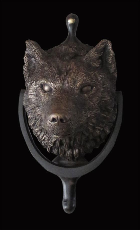 1000 images about door knockers and front porch on pinterest - Wolf head door knocker ...