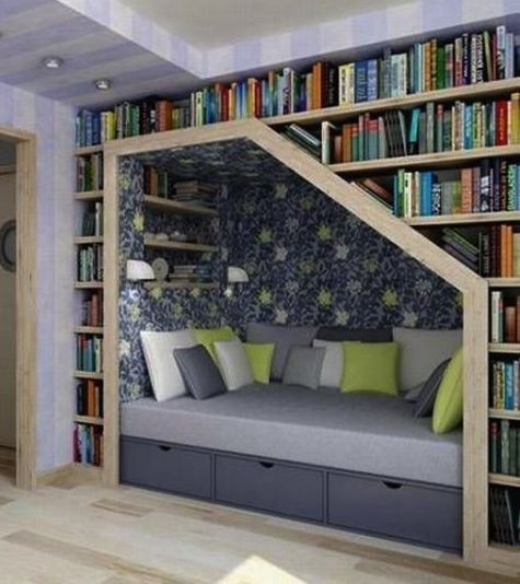 what I wouldn't give to have this reading nook...